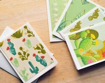 Cactus Mini Cards // Gift Card Envelopes // Western Theme // Boho Mini Cards // Love Notes // Cactus Mini Note Cards