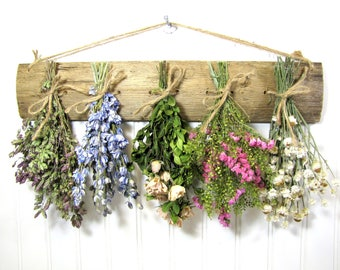 Dried Flower Rack, Dried Floral Arrangement