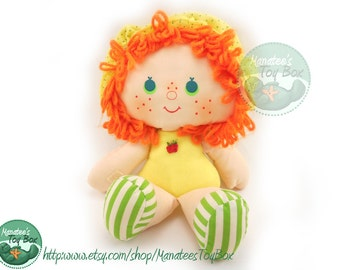 Apple Dumplin Rag Doll from Strawberry Shortcake 1980s Toy