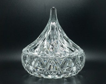 Crystal candy dish Hershey's Kiss by Block