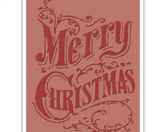 Sizzix Merry Christmas Scroll Embossing Folder By Tim Holtz - 661609