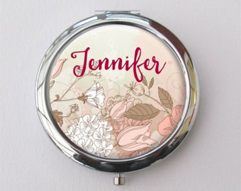 Bridesmaid Compact Mirror, Personalized Bridesmaid Gift, Purse Mirror