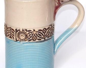 Hawaiian theme Tall Stoneware Mug