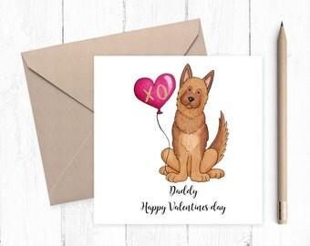 German Shepherd Valentine Card - German Shepherd - Valentine card - ideal for dog lovers - free uk shipping