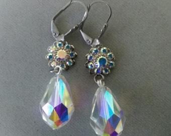 Swarovski Crystal Bridal Drop Earrings