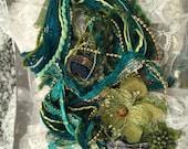 Fiber Art Victoria #5 Collection, Embellishments, Teal, Green, DIY, Arts and Crafts
