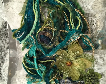 Fiber Art Victoria #5 Collection, Embellishments, Teal, Green, DIY, Arts and Crafts