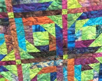 Gorgeous batik quilt