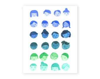 Ombre girls, 8x10, fine art print