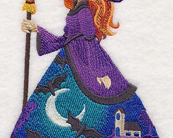 Bewitching Beauty Witch Embroidered Flour Sack Hand/Dish Towel