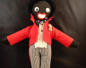 GORGEOUS Black Doll Golliwog Antique Blackface 1940 Rare excellent