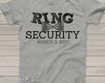 Ring Bearer shirt - Ring Security personalized ring bearer gifts