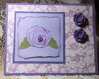 Lavender Rose Card for Any Occasion  20170006