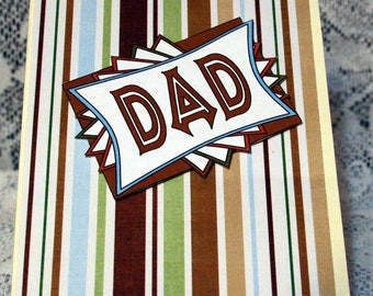 Brown and Green Father's Day Card  20170104