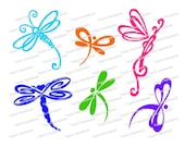 SVG - Whimsical Dragonfly mix - Digital cutting file - INSTANT DOWNLOAD - svg, , silhouette studio, png & pdf