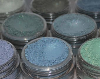 Green and Blue Eye Shadows