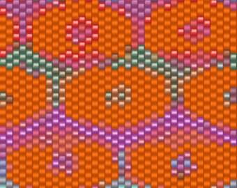 Kaffe Fassett Persian Poppy Peyote Cuff Pattern INBW tutorials