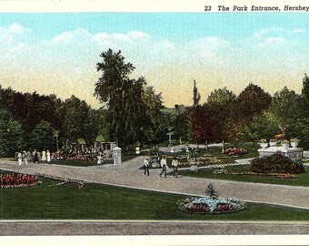 Hershey, Pennsylvania, Park Entrance - Vintage Postcard - Postcard - Unused (V)