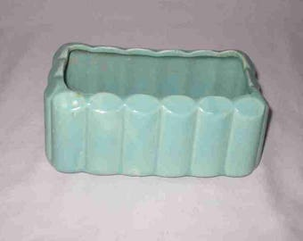 "Neat Vintage 3"" X 6"" Green MCCOY Pottery Planter"