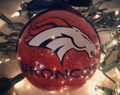 Custom Personalized Broncos Themed Ornament