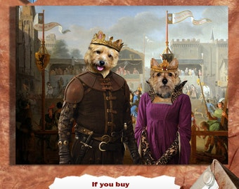 Norwich Terrier Art CANVAS Print Fine Artwork of Nobility Dogs Dog Portrait Dog Painting Dog Art Dog Print
