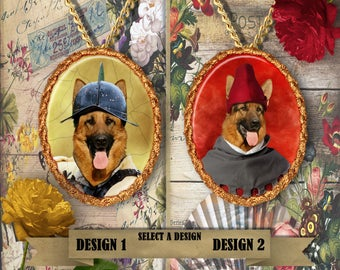 German Shepherd Jewelry. German Shepherd Pendant or Brooch. German Shepherd Necklace. German Shepherd Portrait. Custom Dog Jewelry.Handmade