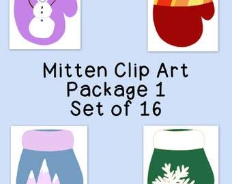 Mittens Clip Art Bundle Winter PNG JPG Blackline Commercial or Personal Pack 1, Hand Drawn, Instant Download, Snowman Mountain Snowflake