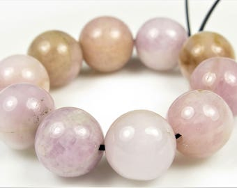 LAST Strands SUPER SALE -  originally 19.99 - Rare Valuable Natural Lilac Kunzite Round Bead - 11 mm - 10 beads - B7107
