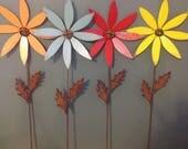 Metal Flowers, Metal Yard Art,  Garden art, Yard Art