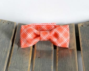 Orange Newborn Baby Bow Tie Photo Prop, Child Bow Tie with Velcro Closure, Any size, Made To Order