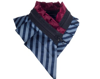 Collar necklace, unique accessory, zipper collar, silk collar, only one piece #178