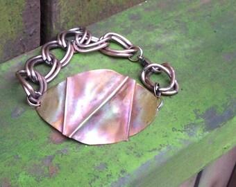 Form Fold Copper Bracelet