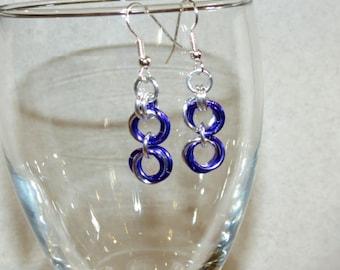 Purple Rosebud Chainmaille Earrings