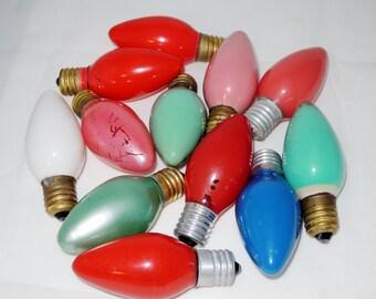 Vintage Large C9 Christmas Tree Light Bulbs