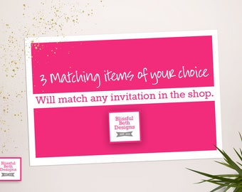 3 Matching Items of Your Choice