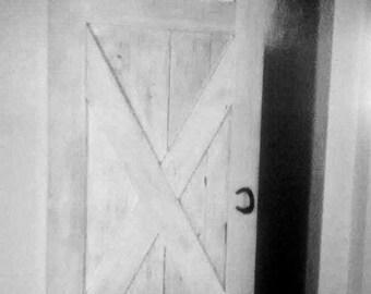 Sliding Barn Door handle (1) hardware from horseshoes. Rolling barn doors, dutch doors, interior doors