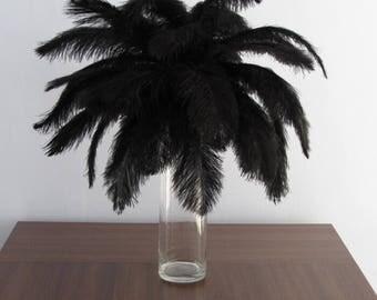 100 6-18inch Ostrich Feather  Wedding Decor Table Centerpiece Feather Centerpiece 30 colors ostrich feather Black