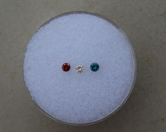 Multicolor Diamond Lot 3 Total Diamonds 2mm Each