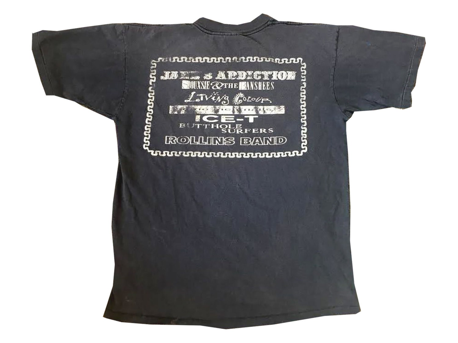 LOLLAPALOOZA 1991 Faded Tour Tour Concert Shirt Janes Addiction Siouxsie Rollins Grunge Tee