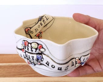 Enough Is As Good As A Feast - Only Eat, Enough | Inspirational Handmade Ceramic Bowl | EXPRESSives