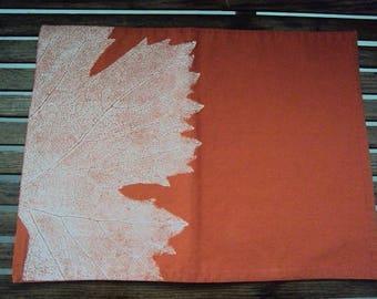 6 Pc West Elm Placemats, Rustic Leaf