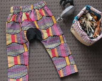 African Wax Print Kids Harem Pants Size One Year