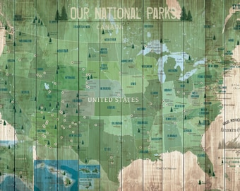 National Park Anniversary Gift, Cotton Gift,  20X30 Inches, 2nd Anniversary, Personalized map, Decorative Map, Traditional Cotton
