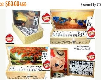 ON SALE Buy 1 Dominoes Set , Get 2nd 50 % Off. Choose your favorite artwork