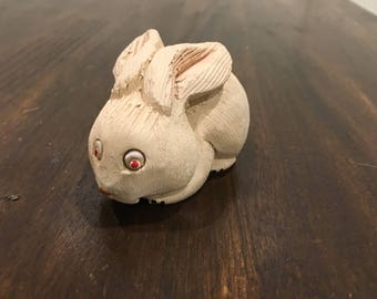 Artesania smaller white rabbit bunny Artesania Rinconada figurine