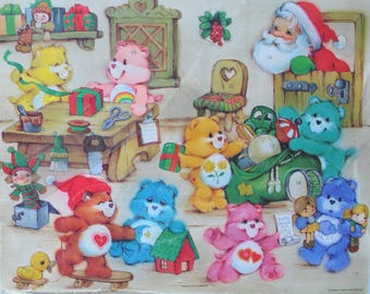 Vintage American Greetings Care Bears Advent Calendar 1983
