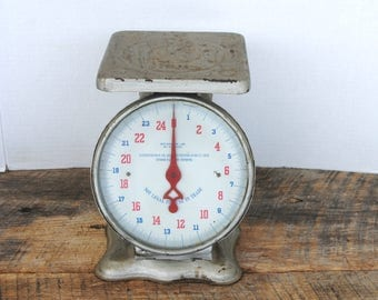 Antique 1913 Household Scale Silver Painted Home Decor