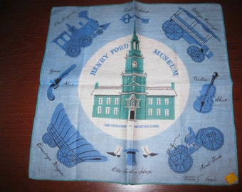 Tammis Keefe handkerchief featuring the Henry Ford Museum