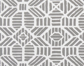 One Body Pillow Cover -  Geometric Grey/White