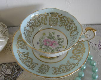 Vintage PARAGON Tea Cup & Saucer Royal Commemorative Princess Margaret Wedding